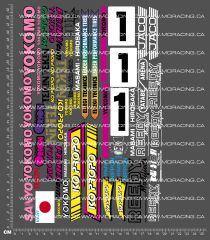 1/10TH ASSOCIATED - RC10 L - MASAMI HIROSAKA DECALS