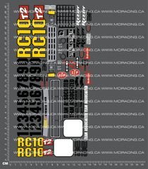 1/10TH ASSOCIATED - RC10 T2 DECALS