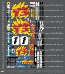 1/10TH ASSOCIATED - RC10 T3 DECALS