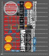 1/10TH FORD V8 SUPERCAR - SHELL HELIX DECALS