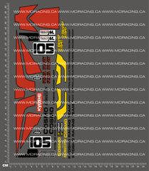 1/10TH KYOSHO - COSMO DECALS