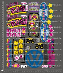 1/10TH KYOSHO - FIELD BAJA QRC BEETLE DECALS