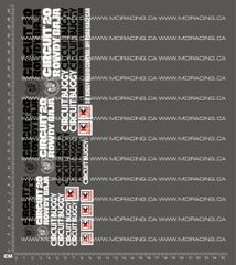 1/10TH KYOSHO - ROWDY BAJA CIRCUIT 20 DECALS