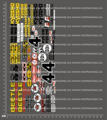 1/10TH KYOSHO - SCORPION BAJA BEETLE DECALS