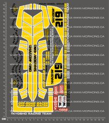 1/10TH KYOSHO - SHADOW 4WD DECALS