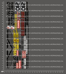 1/10TH KYOSHO - TURBO OPTIMA DECALS