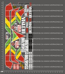 1/10TH KYOSHO - ULTIMA PRO XL DECALS