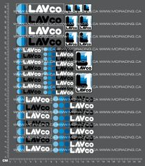 1/10TH LAVCO DECALS