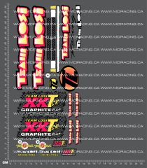 1/10TH LOSI - XX-T CR GRAPHITE PLUS DECALS