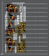 1/10TH MONSTER TRUCK - BEAR VERSION 3 DECALS