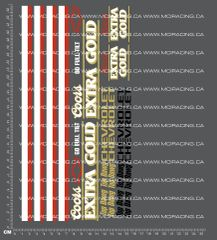 1/10TH MONSTER TRUCK - CHEVROLET EXTRA GOLD DECALS