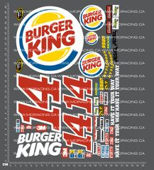 1/10TH NASCAR - BURGER KING DECALS