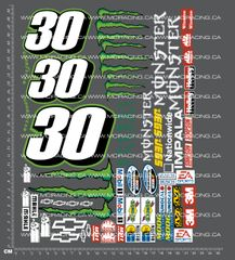 1/10TH NASCAR - ENERGY DECALS
