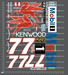 1/10TH NASCAR - MOBIL 1 DECALS