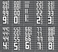1/10TH NUMBER DECALS - VERSION 3