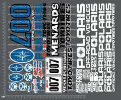 1/10TH SHORT COURSE TRUCK - POLARIS DECALS