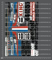 1/10TH TAM 58014 - MARTINI MK.22 RENAULT DECALS