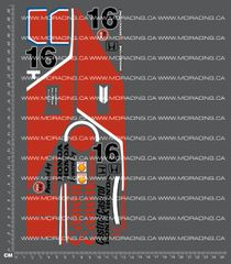 1/10TH TAM 58030 - HONDA F-2 (CS) DECALS
