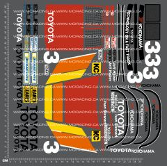 1/10TH TAM 58086 - TOYOTA MONSTER HILUX DECALS