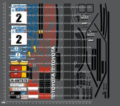 1/10TH TAM 58096 - TOYOTA CELICA GT FOUR RALLY DECALS