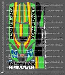 1/10TH TAM 58100 - TOP FORCE DECALS