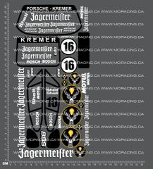1/12TH PORSCHE - KREMER DECALS