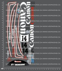 1/12TH TAM 58042 - PORSCHE 956 - CANON DECALS