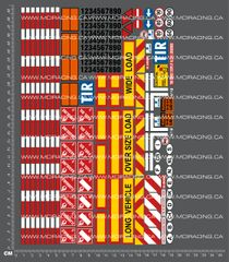 1/14TH TAM - TRACTOR TRAILER DECALS