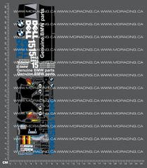 1/18TH HPI - MICRO RS4 - BMW LMR DECALS