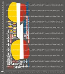 1/8TH MOTORCYCLE - HANG ON RIDER (HOR) MOTORCYCLE DECALS - REPSOL