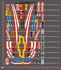 1/10TH KYOSHO MONSTER TRUCK - USA1 DECALS