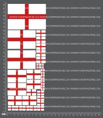 1/10TH FLAGS - ENGLAND DECALS