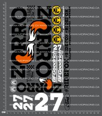 1/10TH SHORT COURSE TRUCK - ZORRO VERSION 1 DECALS