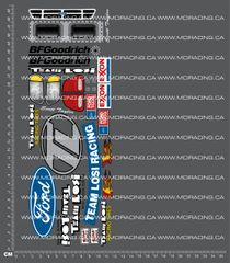 1/10TH LOSI HEAVY METAL DECALS