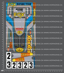 1/10TH TAM 58051 - FOX DECALS