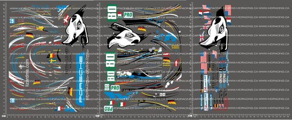 1/10TH PORSCHE - FLYING LIZARD VERSION 3 DECALS