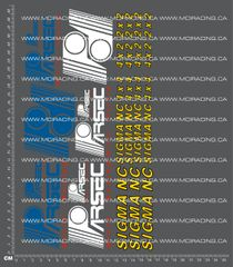 1/8TH PARSEC - SIGMA NC DECALS