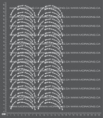 1/10TH RADIAL MUD TERRAIN TIRE DECALS