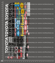 1/10TH ASSOCIATED - RC10 T TOYOTA BAJA PICKUP DECALS