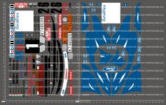 1/10TH KYOSHO - ESCORT RS COSWORTH DECALS