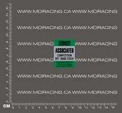 540 MOTOR DECAL - ASSOCIATED COMPETITION OFF ROAD STOCK