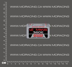 540 MOTOR DECAL - KYOSHO LEMANS 360E