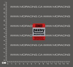 540 MOTOR DECALS - REEDY MODIFIED RED