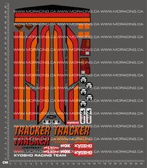 1/10TH KYOSHO - TRACKER DECALS