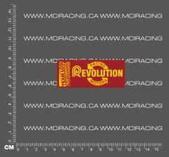 540 MOTOR DECAL - LOSI RACING REVOLUTION MOTORS - DARK RED