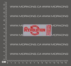540 MOTOR DECAL - LOSI RACING REVOLUTION MOTORS - SILVER