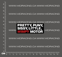 540 MOTOR DECAL - WIMPY
