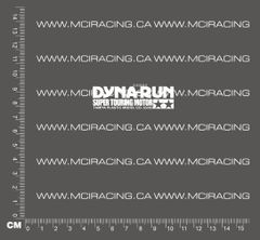 540 MOTOR DECAL - DYNA RUN SUPER TOURING MOTOR