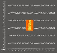 1/10TH BATTERY RC SUB C CELL - MATCHED BATTERY LABEL - ORION ORANGE AND YELLOW