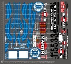 1/10TH KYOSHO - LANCIA MARTINI DECALS